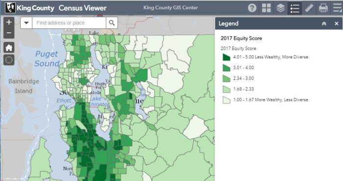Where in King County? Exploring Census Viewer | GIS & You on king county topo map, king county parcel search, king county landslide hazard map, king county demographics map,