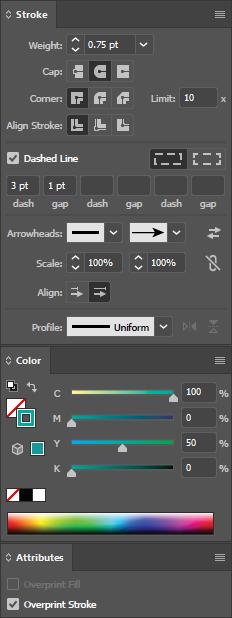 Illustrator-palettes